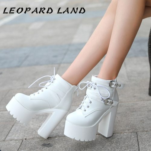 LEOPARD LAND 2019  Winter Super Thick Bottom Fashion Boots Sexy High-heeled Women's Boots Nightclubs Warm Thick Boot ZYW-659-1