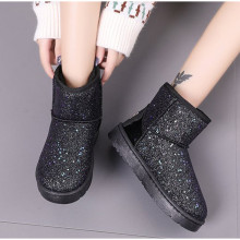 Women Snow Boots Glitter Woman New Warm Short Plush Soft Ladies Ankle Boot Winter Fur Bling Platform Female Casual Shoes