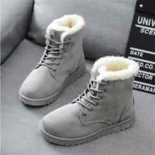 New Winter Boots For Women Ankle Boots Female Snow Shoes Ladies Lace Up Suede Upper with Warm Plush Insole Botas Mujer Plus