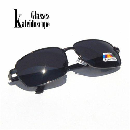 Mens Polarized Sunglasses Retro Rectangle Polarizer Lens Sun Glasses Fashion Classical Night Vision Eyewear