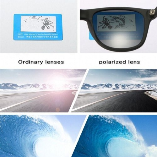 Fashion Polarized Sunglasses Men Women Driving Coating Points Black Frame Eyewear Male Sun Glasses UV400 Rays Sunglasses