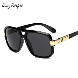 Long Keeper Square Sunglasses Men Luxury Brand Design Couple Lady Celebrity Flat Hot Women Sun Glasses Super Star Cool Eyewear