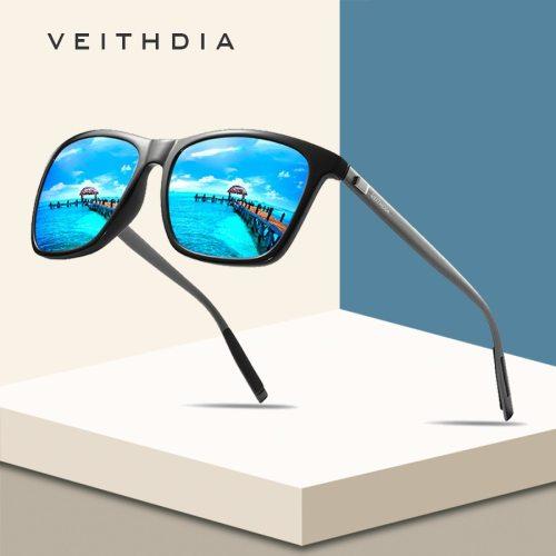 VEITHDIA Brand Unisex Retro Aluminum+TR90 Square Polarized Sunglasses Lens Vintage Eyewear Accessories Sun Glasses For Men/Women