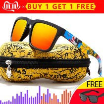 KDEAM Eye-catching Function Polarized Sunglasses For Men Brand Graffiti Glasses Leg Sun Glasses UV Goggles Male Gafas de sol XH2