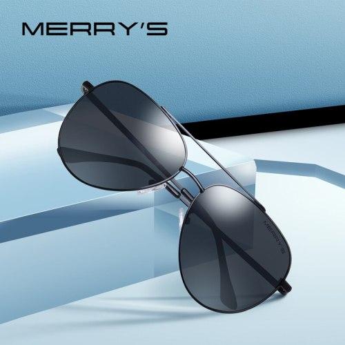 MERRYS DESIGN Men Classic Pilot Sunglasses Aviation Frame HD Polarized Sunglasses For Men Driving UV400 Protection S8138