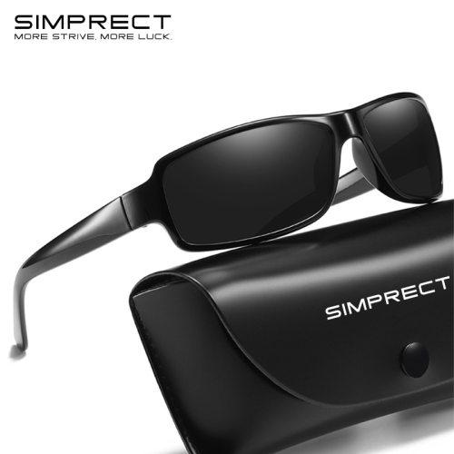 SIMPRECT Vintage Polarized Sunglasses Men 2019 Retro Sunglasses Square Mirror Sun Glasses For Men Anti-Glare Driver's Oculos