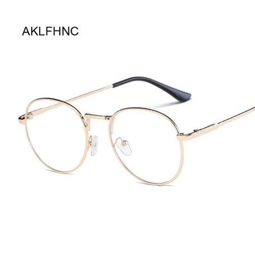 New Fashion Men Glasses Frame Women Eyeglasses Frame 2019 Vintage Round Clear Lens Glasses Optical Spectacle Frame