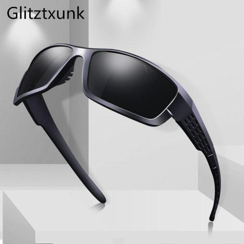 Glitztxunk Polarized Sunglasses Men Women Square Brand Design Classic Male Black Sports Sun Glasses For Men Drive Goggle gafas