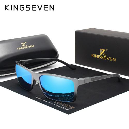 KINGSEVEN Brand Design Fashion Aluminum Magnesium Sunglasses Men Polarized Driving Eyewear For Men UV400 Oculos N7021