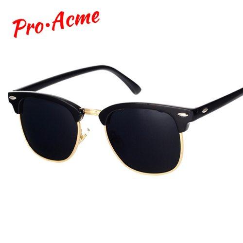 Pro Acme Classic Brand Polarized Sunglasses Men Women  Half Metal Mirror Unisex  Sun Glasses Gafas De Sol UV400 CC0832