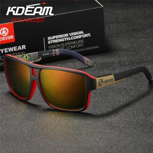 KDEAM Polaroid Goggles Men Sport eyewear With Hard case Square Sunglasses women Brand Driving Polarized Glasses Outdoor KD520