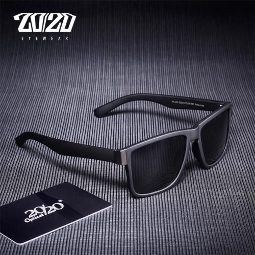 20/20Classic Polarized Sunglasses Men Glasses Driving Coating Black Frame Fishing Driving Eyewear Male Sun Glasses PL278