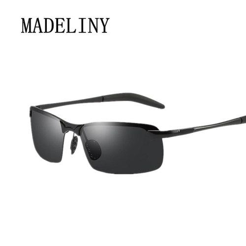 MADELINY Brand Men's Polarized Sunglasses Men Aluminum Sun Glasses HD Sport Sunglasses For Men oOculos De Sol Masculin MA320