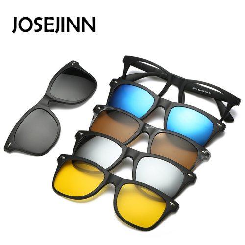 5 in 1 sunglasses  men magnetic sunglasses clip on glasses magnetic lens sunglasses