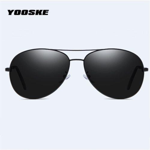 YOOSKE Brand Polarized Sunglasses Men Women Pilot Driving Sun Glasses Vintage Anti-UV400 Goggles Driver Eyewear