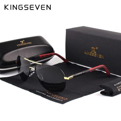 KINGSEVEN Men Vintage Aluminum Polarized Sunglasses Classic Brand Sun glasses Coating Lens Driving Eyewear For Men/Wome