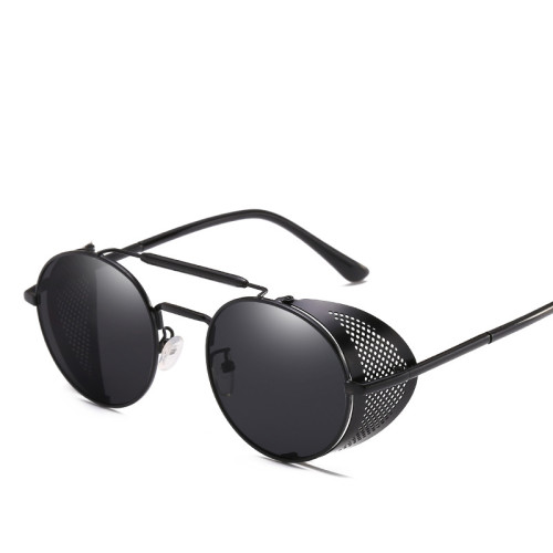MuseLife Retro Round Metal Sunglasses Steampunk Men Women Brand Designer Glasses Oculos De Sol Shades UV Protection