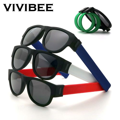 Fancy Slap Wristband Men Polarized Wrist Sunglasses Folding for Women Roll Bracelet 2020 Trend Foldable Sports Sun Glasses