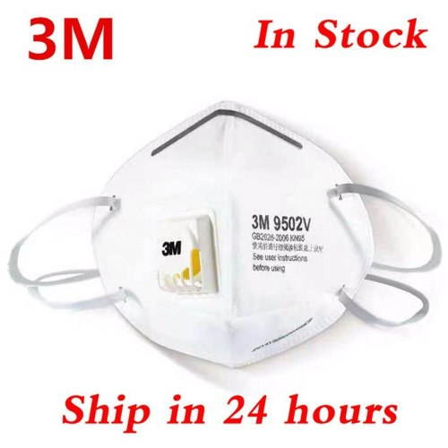 KN95 9502V+ 3M 25 PCS/BOX Mask Certification Face Mask N95 FFP3 Mouth Mask Anti Dust Mask with Cool Flow Valve Breathable Mask