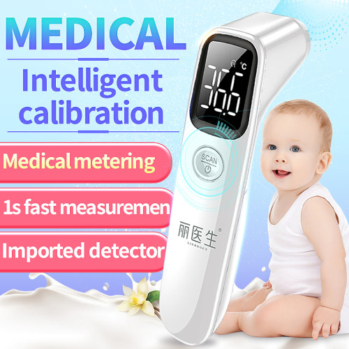 In Stock LIERDOCT Baby Forehead Thermometer Digital LED Body Temperature Meter Non-contact Infrared Thermometer Children Adult