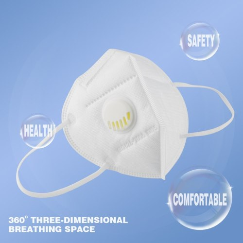 FFP2 5-layer KN95 Mask With Breathing Valve Filter Individually Packaged Comfortable And Breathable IN STOCK