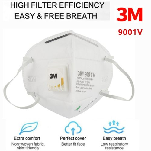 3M Masks 9001V 1/5/10/25Pcs PM2.5 KN90 Ear band Particulate Respirator Dust Mask with Cool Flow Valve Breathable Mask 9001V