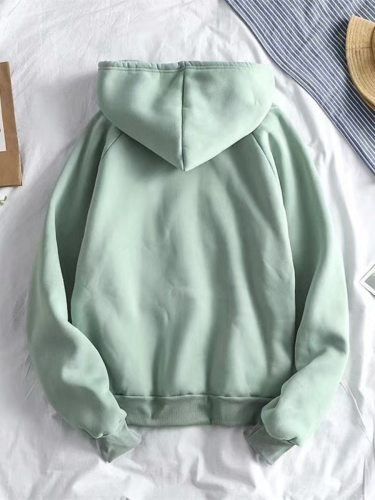 Men's Hoodie Solid Color Front Pockets Casual Holiday Long Sleeve Hooded Loose
