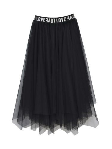 Women's Asymmetrical Skirt Fashion Letter Sweet Print High Waist Midi