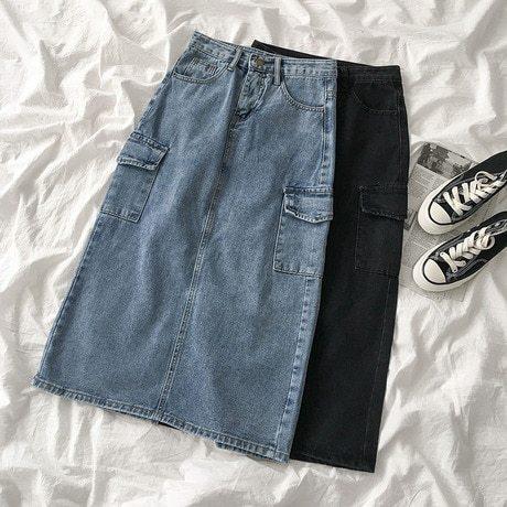 Women's Skirts Others OL&Feminine OL&Feminine OL Solid Color Patchwork