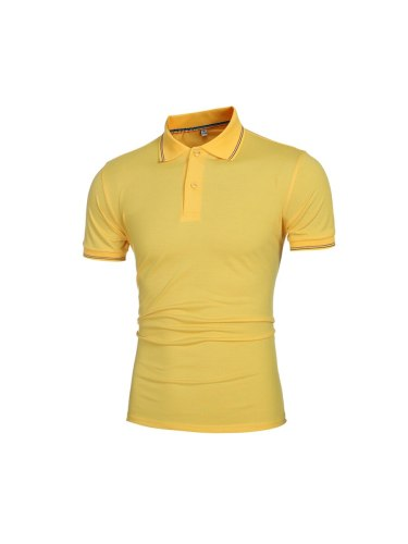 Men's Polo Shirt Color Breathable Stylish Polo Slim Solid Casual Turn Down Collar Short Sleeve