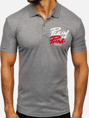 Men's Polo Shirt Letter Fashion Turn Down Collar Short Sleeve Print Going Out