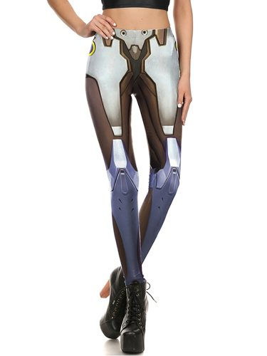 Women's Leggings Fashion Patchwork High Waist Slim Ninth Sporty Low Waist Floral Print