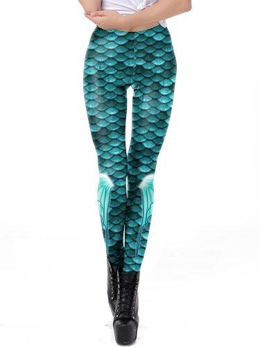 Women's Leggings Sport Fashion Slim Ninth Low Waist Floral Print Casual