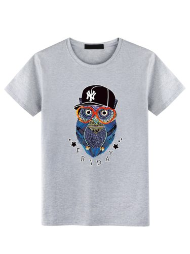 Men's T Shirt All Match Breathable Slim T Short Sleeve Loose Floral Crew Neck Fashion