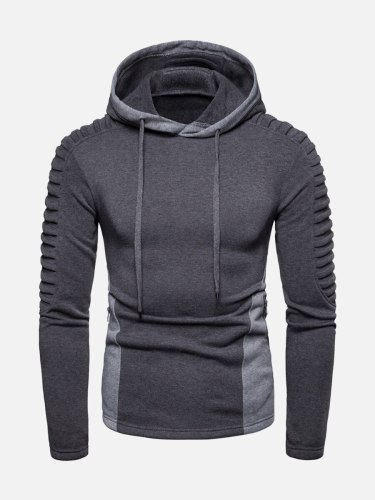 Men's Hoodie Zipper Casual Fashion Long Sleeve Patchwork Hooded Going Out