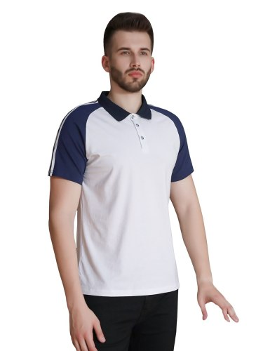 Men's Polo Shirt Casual Short Sleeve Patchwork Turn Down Collar Travel