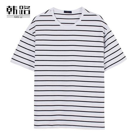 Men's T-Shirt Fashion Crew Neck Striped Short Sleeve Loose Casual