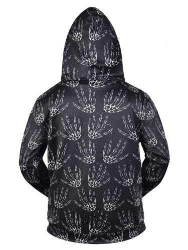 Men's Hoodie Printed Pocket Zipper Loose Hooded Long Sleeve Going Out Fashion Colorblock