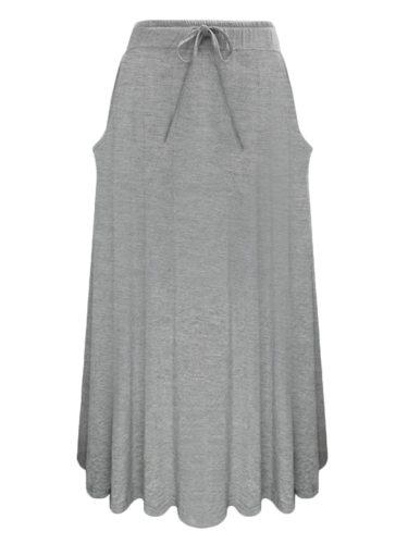 Women's Skirt Cozy Midi Solid Color Casual Mid Waist Belt