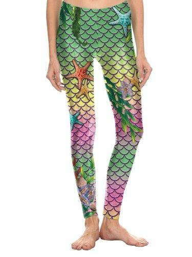 Women's Leggings Print Slim Low Waist Casual Floral Print Ninth