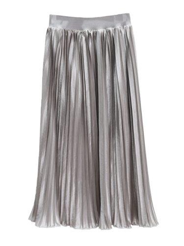 Women's Skirt Elastic Waist Pleated Solid Casual Midi Cascading Ruffle