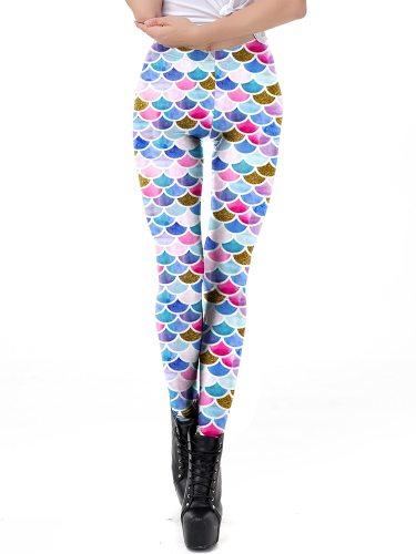 Women's Leggings Fashion Sport Casual Floral Print Sporty Slim Ninth Low Waist