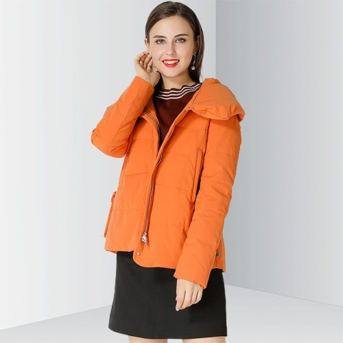 OCEAN Women's Winter Coat Casual Warm Down Loose Zipper Simple Hooded The various accessories in the picture are for shooting and are not included in