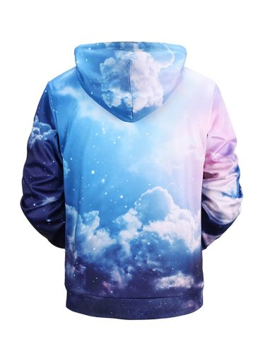 Men's Hoodie Fashion Hooded Casual Long Sleeve Thicken Print