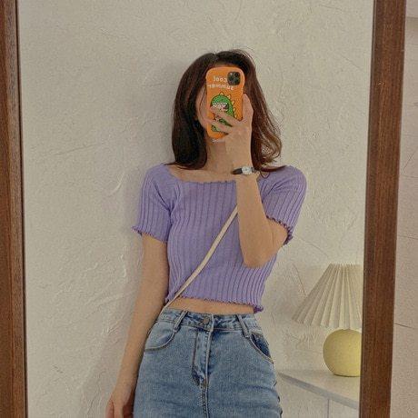 Women's T Shirts Sweet Patchwork Short Sleeve