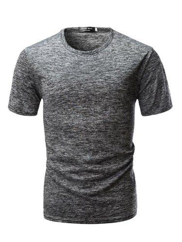 Men's Casual T Shirt Comfy Stylish Short Sleeve Fashion Crew Neck Slim Solid