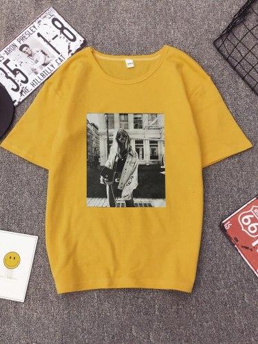 Women's T Shirt Fashion Crew Neck Short Sleeve Floral Print Casual