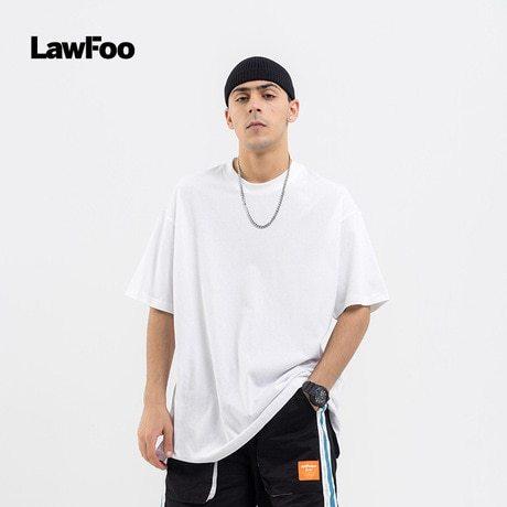 LawFoo Men's T Shirt Solid Color Crew Neck Short Sleeve Simple