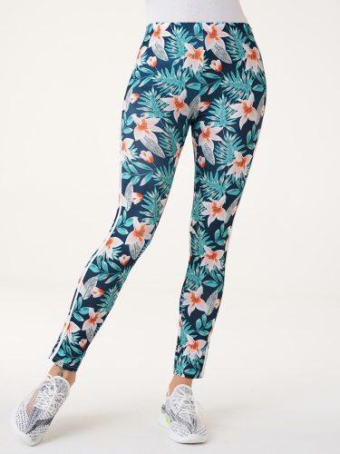 Women's Leggings Fashion High Waist Long Floral Print Slim Sporty