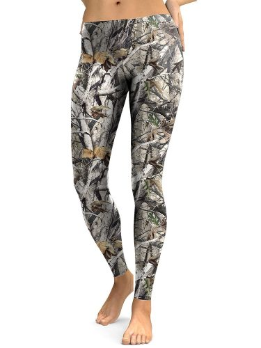 Women's Leggings Print Fashion Low Waist Floral Print Casual Ninth Slim